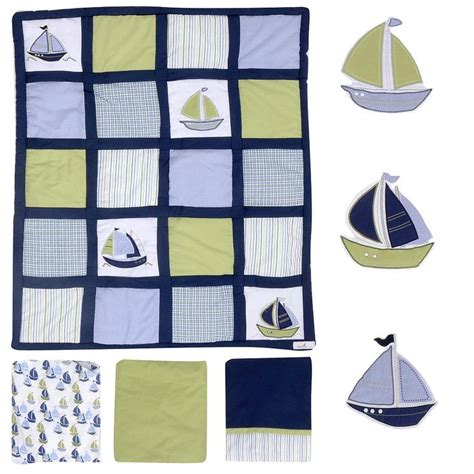 crown craft nautica brody nautica kids zachary 7 piece crib bedding set crafts