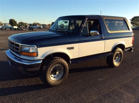 how petrol cars work 1994 ford bronco navigation system 1994 ford bronco xlt low mileage rare color combo
