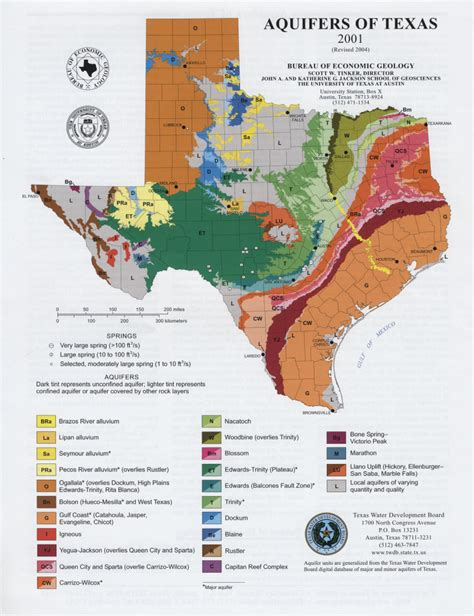 economic map of texas texas aquifers