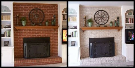 Red Brick House Door Colors by Painting Brick Fireplace Ideas