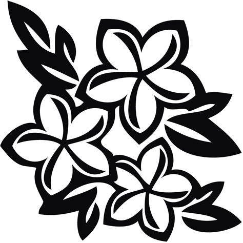 Sticker Nama Cutout Lilo N Stitch tropical flower black and white clipart clipart suggest