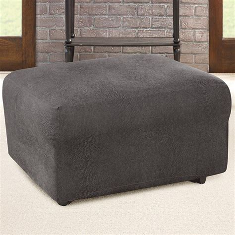 sure fit oversized ottoman cover best 25 ottoman slipcover ideas on ottoman