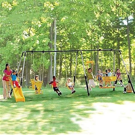 swing set safety safety 1st manchester 6 leg swing set sears sears