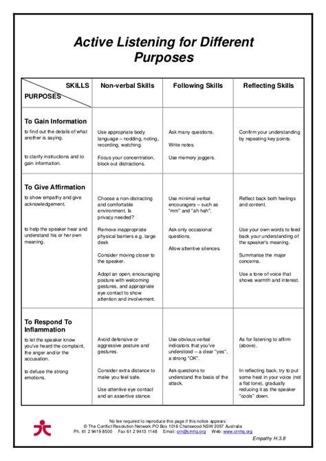 Skills Worksheet Active Reading by Listening Skills Worksheets Worksheets Releaseboard Free