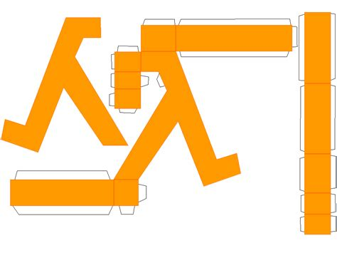 Papercraft Pdf - lambda hl logo papercraft by norgas on deviantart