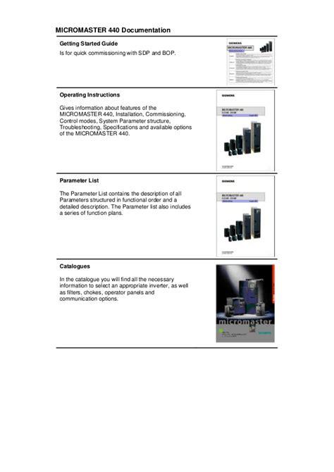 siemens micromaster 440 wiring diagram efcaviation