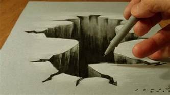 3d Drawing Trick Art On Paper Drawing 3d Hole Costin Craioveanu