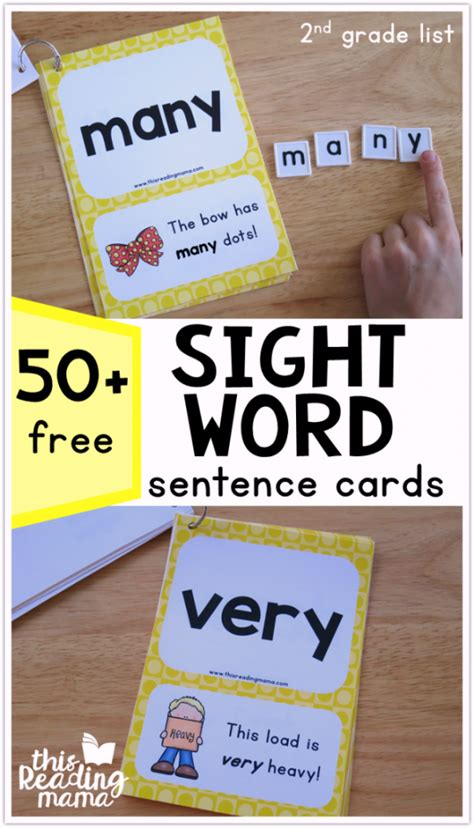 word cards for sentences second grade sight word sentence cards level 4 this