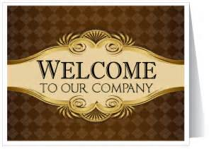 welcome to our company greeting card 1270 harrison greetings business greeting cards