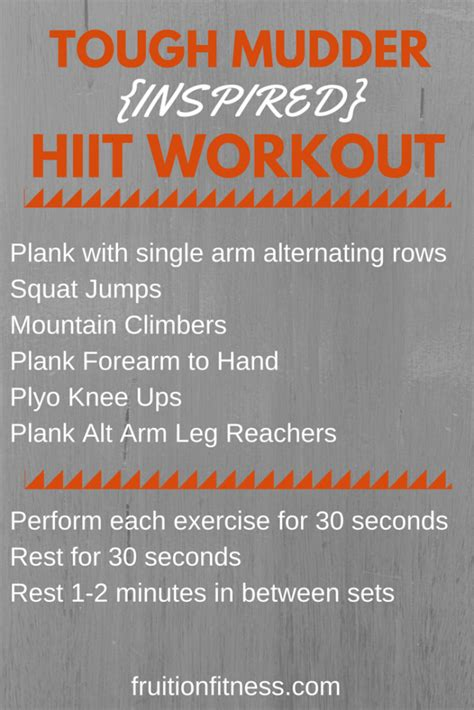 Tough It Out Or Adjust Your Workout by Tough Mudder Inspired At Home Hiit Workout Fruition Fitness