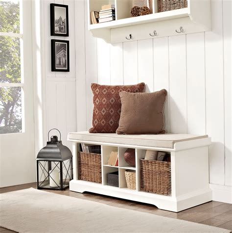 modern white entry bench entryway storage cubby bench shelf