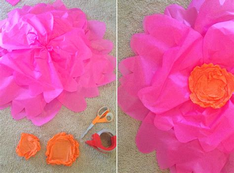 How To Make Large Tissue Paper Flowers - tissue paper flower tutorial part 1 at home with