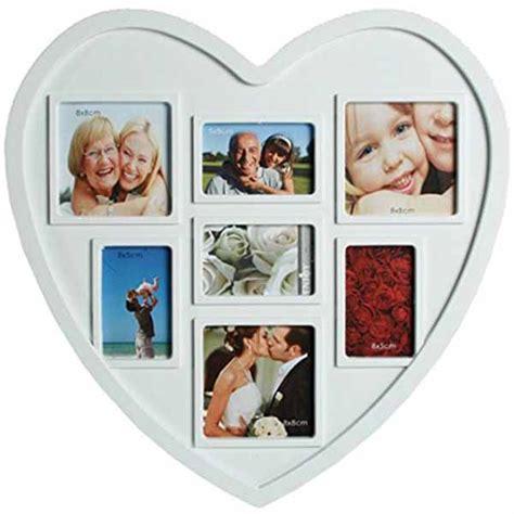 cornici a forma di cuore portafoto bianco a forma di cuore per 7 fotografie cornice