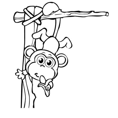 coloring pages of a baby monkey cute baby monkey coloring pages printables coloring home