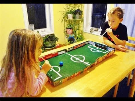 How To Make A Table Football Out Of Paper - soccer football in a pizza box