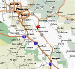 map of florence arizona about florence arizona