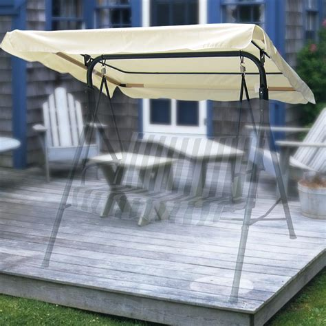 swing canopy cover 75 x 43 outdoor swing canopy top replacement cover garden