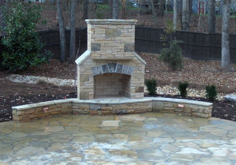 outside corner fireplace stacked fireplace company atlanta traditional