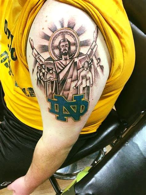 notre dame tattoos 19 best fighting tattoos images on