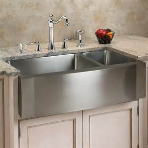Faucets At Lowes 33 Quot Scranton Stainless Steel 70 30 Offset Double Well Wave