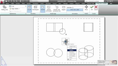 how to create layout view in autocad autocad creates a detail view of a portion of a model