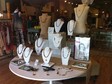 retail store trunk show display jewelry making journal