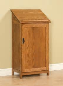 Solid Maple Bookcase Amish Arts And Crafts Podium Bookcase With Door