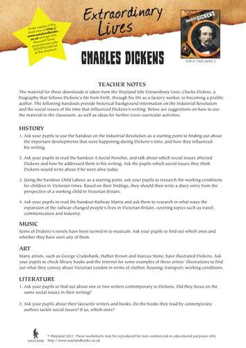 charles dickens biography middle school charles dickens life and times by wayland teaching