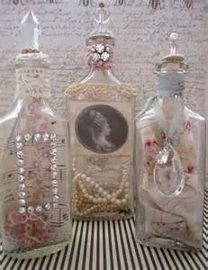 shabby chic vintage treasure bottles crafts pinterest
