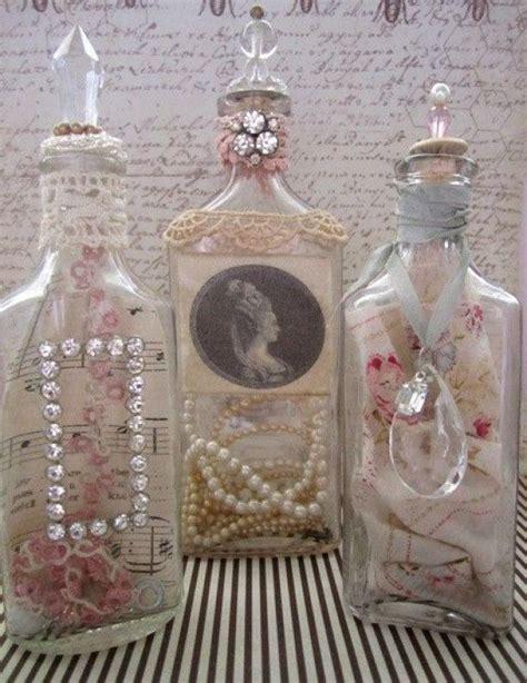 shabby chic bottles shabby chic vintage treasure bottles crafts