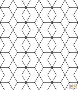 tessellation coloring pages tessellation with rhombus coloring page free printable