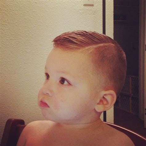 little boys first mundan high fade pomp over hard part toddler boy