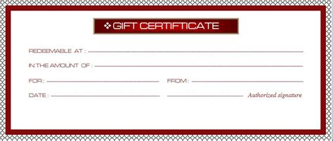 professional gift certificate template modern design of business gift certificate template sle