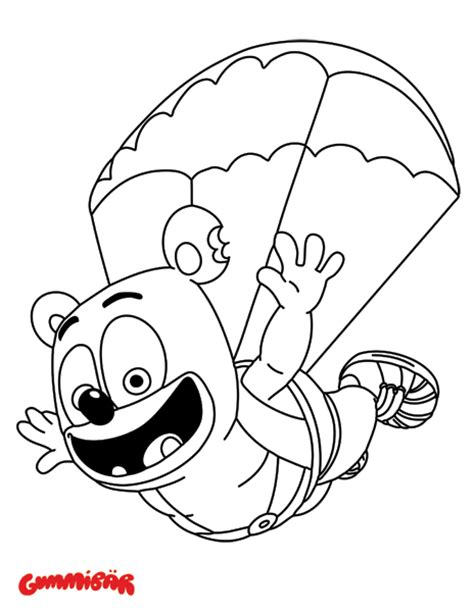coloring pages gummy bear download a free printable gummib 228 r january coloring page