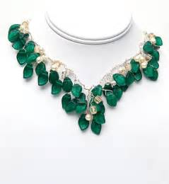emerald green necklace vintage style by cherylparrottjewelry