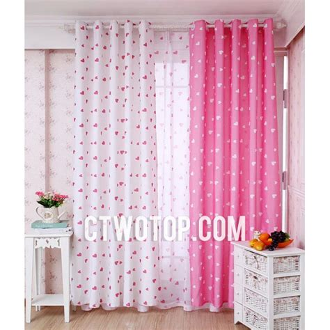 pink and white nursery curtains thenurseries