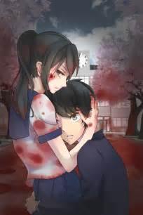 wallpaper girl killing boy senpai is mine yandere simulator by un yuuendakara on