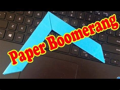 How To Make A Paper Boomerang That Comes Back - 17 best images about boomerang on giraffe