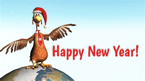 funny happy  year   rooster youtube