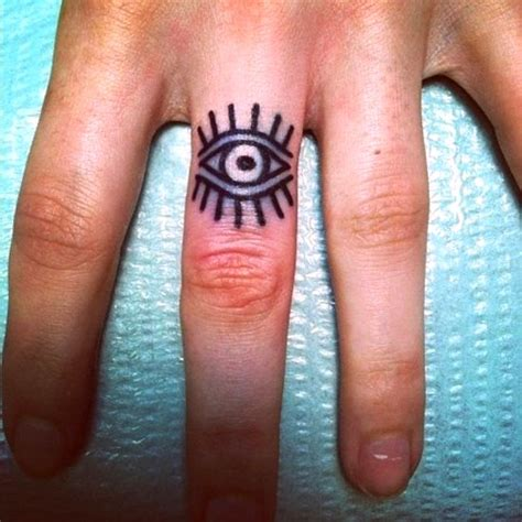 small eye tattoos 50 awesome finger tattoos that are insanely popular