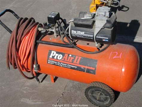 west auctions auction marble company in napa ca item pro air ii compressor with air hose