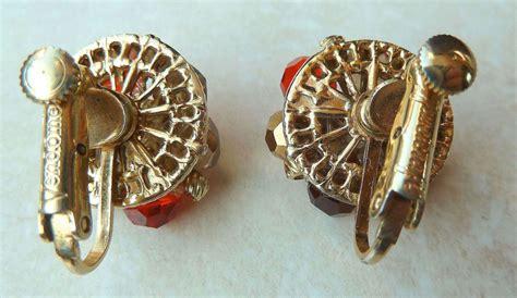 Beaded Earring Clip On Earring vintage vendome beaded clip on earrings