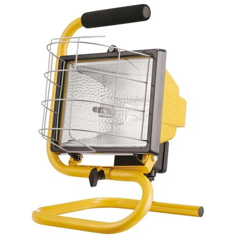 Work Light Fixtures Globe Electric 500w Portable Halogen Yellow Work Light 6050401 The Home Depot