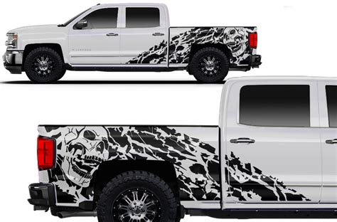 Chevy Silverado 14 16 Vinyl Graphics for Bed Fender