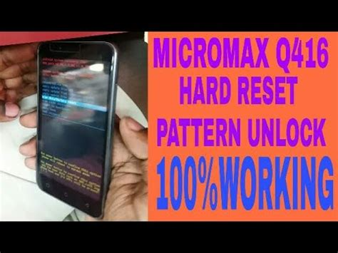 micromax a67 pattern unlock youtube micromax q416 hard reset pattern unlock youtube