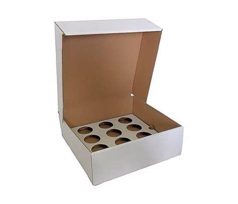 CUPCAKEB12   12 Cupcake Box Corrugated With Inserts x 50