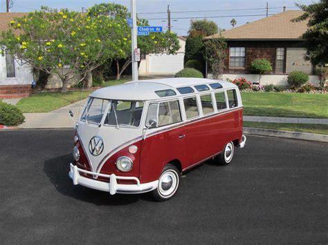 volkswagen classic bus 1966 vw samba deluxe 21 window titian red buy classic volks