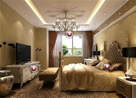 Plaster Ceiling Design For Bedroom Wood And Plaster Ceiling Bedroom European Style Interior Design