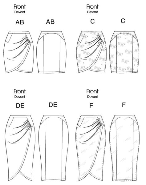 pattern drafting pencil skirt 117 best technical fashion drawings skirts images on