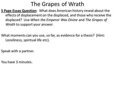 Grapes Of Wrath Essays by Essays The Grapes Of Wrath